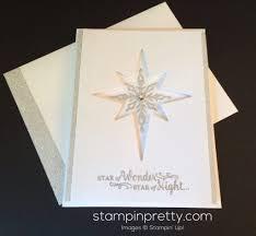 sneak peek star of light christmas card stampin u0027 pretty