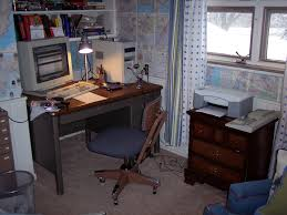 file corner of the room is where everything computer related goes