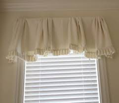 hall window valances with white ceramic floor and small glass