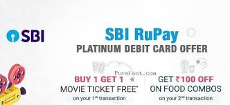 bookmyshow offer pureloot com bookmyshow sbi rupay platinum debit card offer buy