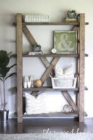 Simple Wooden Bookshelf Plans by Best 25 Rustic Bookshelf Ideas On Pinterest Bookshelf Diy Diy
