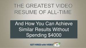 Video Resume Creator by The Best Video Resume Ever