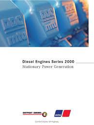 mtu series 2000 genset turbocharger engines