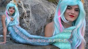 mermaid makeup tutorial halloween costume kittiesmama youtube