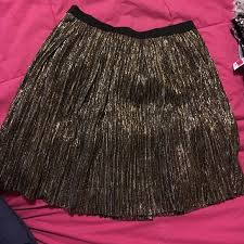 60 off dresses u0026 skirts gold silver and black shiny skater