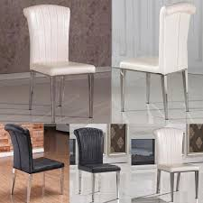 Dining Leather Chair Fashion Classic Chair Stainless Steel Leather Dining Chairs Living