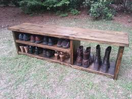 Rustic Oak Bench Rustic Shoe Shelf Or Bookcase Photo Coastal Oak Designs Wooden