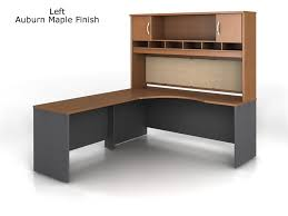 Shaped Desk Bush Series C L Shape Desk Bundle With Hutch