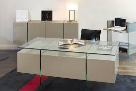 bureaux en verre bureau en laque verre