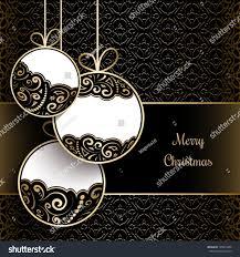 ornamental balls vintage gold christmas background stock vector