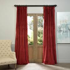 Raw Silk Drapery Panels by Signature Burgundy Blackout Velvet Curtains Drapes