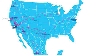 Map Of Chicago Airport Nonstop Destinations Ontario International Airport