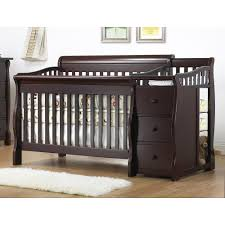 Cheap Convertible Cribs by Mini Crib With Changing Table Combo Best Table Decoration