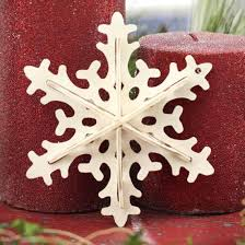 dimensional filigree unfinished wood snowflake ornament wood