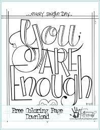 printable page of quotes free printable quote coloring pages for adults attienel me