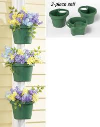 unique gutter downspout garden flower pot plant planter container