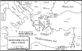 Map Of Mediterranean Countries Bill U0027s Bible Basics Map Resources