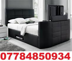 Tv Storage Bed Frame Electric Gas Lift Storage Leather Tv Bed Frame In