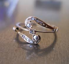nouveau engagement rings nouveau ring free shipping by antiquesparkle on etsy