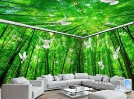 wallpaper for entire wall 3d pigeon green forest tree top entire living room wallpaper wall