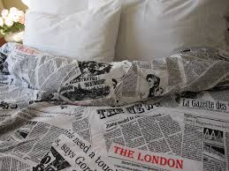 World Map Duvet Cover by Writing Newspaper Print Duvet Cover Book Bedding Black