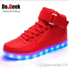 light shoes for women dogeek led light shoes red high top women and men light up