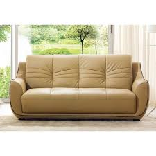 Leather Sofa Italian Luca Home Cappuccino Italian Leather Sofa Free Shipping Today