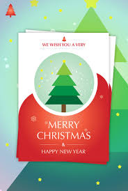 new year card design christmas new year card design design3edge