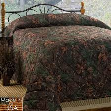 mixed pine rustic camo quilted bedspread bedding