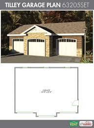 3 Car Garage Designs by Tilley Garage Plan 36 U0027 X 28 U0027 3 Car Garage 63205set Kent