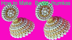 minecraft earrings how to make bridal jhumkas at tutorials diy bridal earrings
