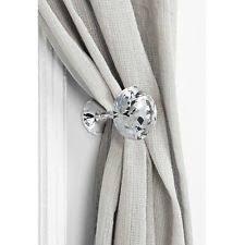 White Metal Curtain Holdbacks Glass Hold Backs Curtains U0026 Blinds Ebay