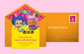 free bubble guppies invitations bubble guppies online invitations