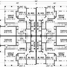 multifamily house plans multi family floor plans lovely six plex multi family house plan