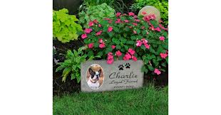 dog grave markers pet grave marker with inlaid photo ceramic tile