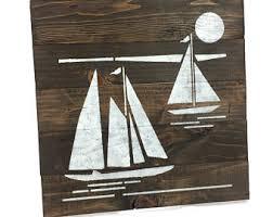 sailboat decor etsy