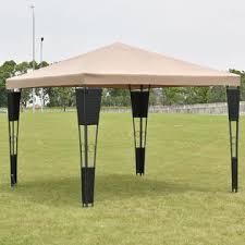 Gazebo Awning Costway Op3111cf Outdoor 10 U0027x10 U0027 Rattan Wicker Gazebo Canopy Tent