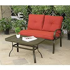 Plastic Loveseat Outdoor Amazon Com Keter Corfu Love Seat All Weather Outdoor Patio