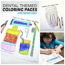 dental coloring pages kids