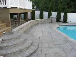 Patio Deck Cost by Stamped Concrete Pool Deck Cost Home U0026 Gardens Geek