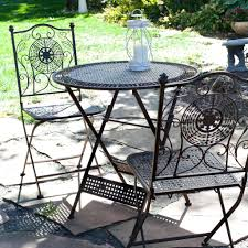 Folding Bistro Table And Chairs Set Patio Ideas Essential Garden 3pc Resin Wicker Folding Patio