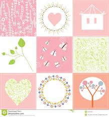 baby cards set design with patterns stock vector