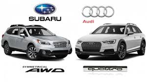 audi quattro all wheel drive subaru symmetrical all wheel drive vs audi quattro ultra