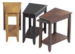 leick recliner wedge end table furniture wedge end table phillips collection shaped black with