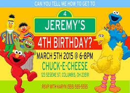 sesame street birthday invitation tags sesame street birthday