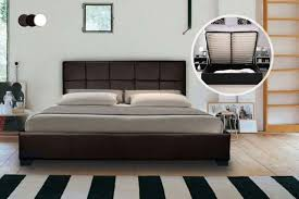 Leather Ottoman Bed Faux Leather Ottoman Bed With Optional Spring Mattress U2013 3 Colours