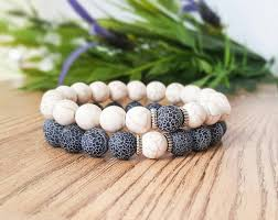 wedding gift hers uk couples bracelets matching bracelets howlite and agate