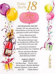 simon elvin 2017 18th female birthday card 1999 was a special