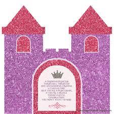 Princess Themed Invitation Card Kids Shaped Birthday Invitation Cards Princess Castle Flip