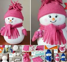 wonderful diy easiest snowman from styrofoam kid check